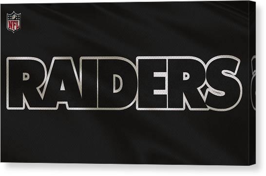 Oakland Raiders Canvas Print - Oakland Raiders Uniform by Joe Hamilton