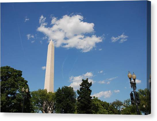 Obelisk Rises Into The Clouds Canvas Print