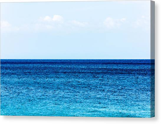Pacific Division Canvas Print - Ocean And Sky by Colin Utz