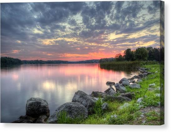 Ohio Lake Sunset Canvas Print