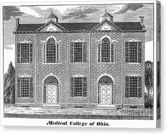 Ohio University Canvas Print - Ohio: Medical College by Granger