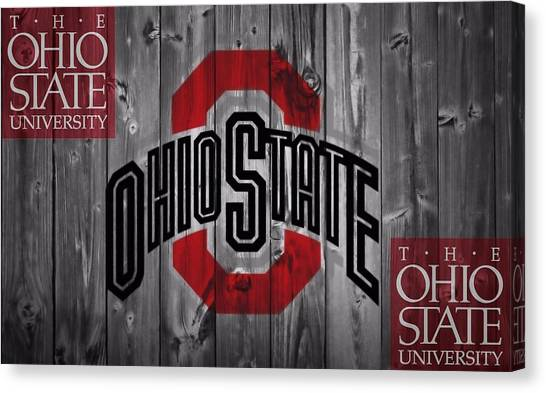 Colleges And Universities Canvas Print - Ohio State Buckeyes by Dan Sproul