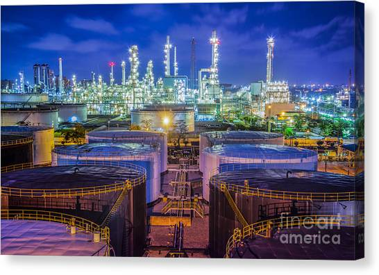 Oil Refinary Industry  Canvas Print