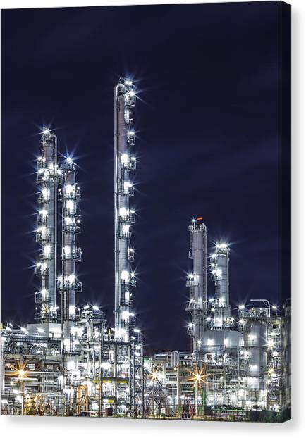 Oil Refinery Industry Canvas Print