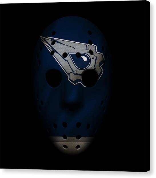 Edmonton Oilers Canvas Print - Oilers Jersey Mask by Joe Hamilton