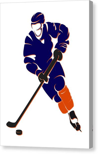 Edmonton Oilers Canvas Print - Oilers Shadow Player by Joe Hamilton