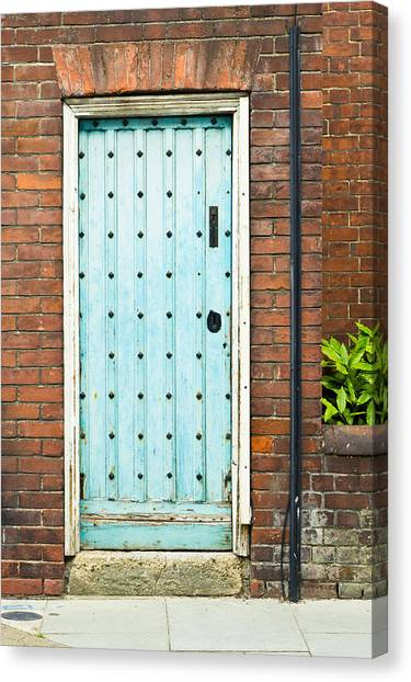 Door Canvas Print - Old Blue Door by Tom Gowanlock