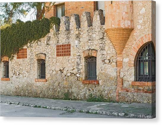 Old Buildings In Codorniu Winery In Sant Sadurni D'anoia Spain Canvas Print