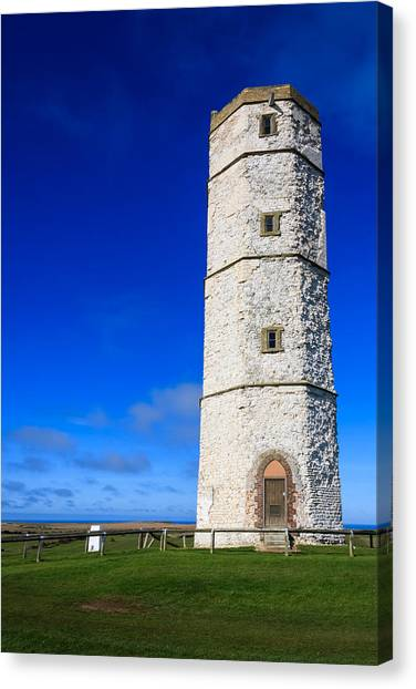 Old Lighthouse Flamborough Canvas Print
