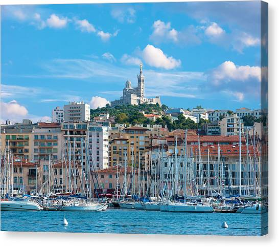 Old Port Of Marseille Canvas Print