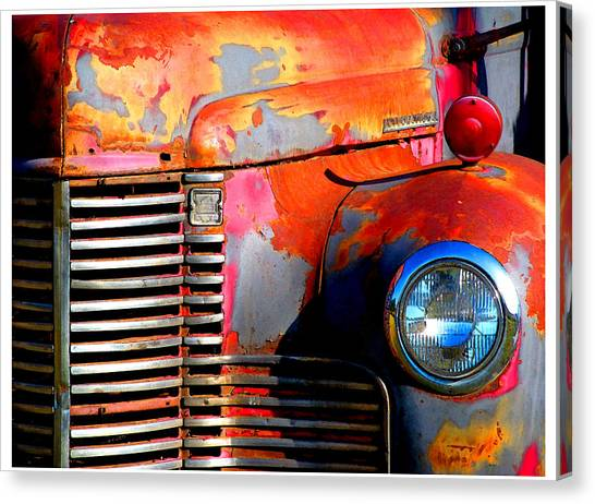 Old Red Man Canvas Print by Gail Lawnicki