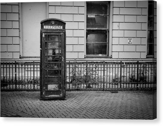 Old Telephone Box Canvas Print