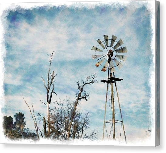 Old West Wind Wheel Canvas Print