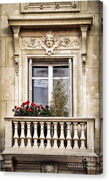 Window Canvas Print - Old Window by Elena Elisseeva
