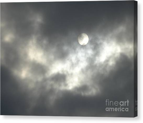 On A Scary Night Canvas Print