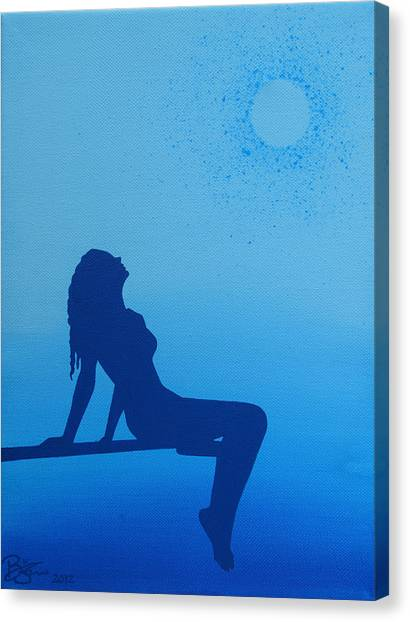 Once In A Blue Moon Canvas Print by Lance Bifoss