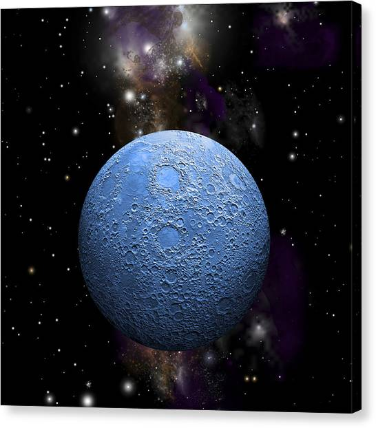 Once In A Blue Moon No.2 Canvas Print