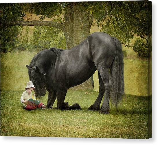 Horses Canvas Print - Once Upon A Time by Fran J Scott