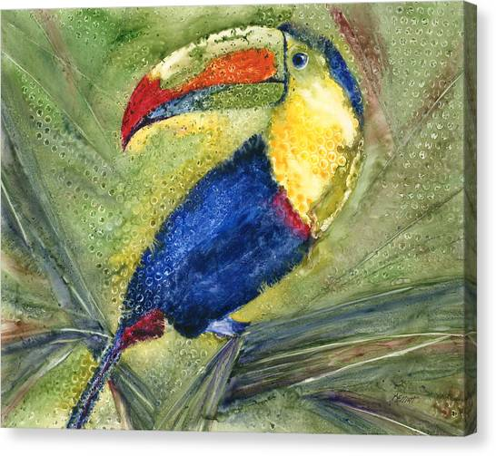 Toucans Canvas Print - One Cant But Toucan by Marsha Elliott