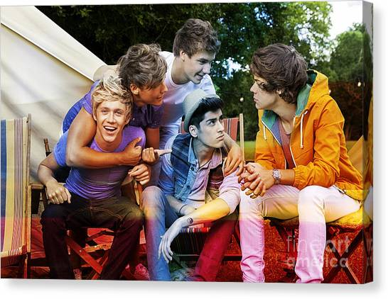 One Direction Canvas Print - One Direction by Marvin Blaine
