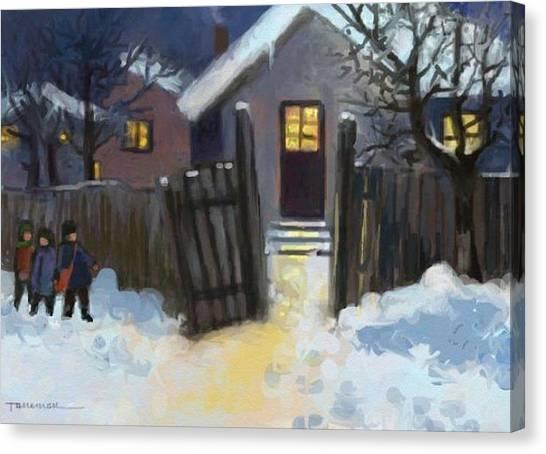 Open Door To Carol Canvas Print by Tancau Emanuel