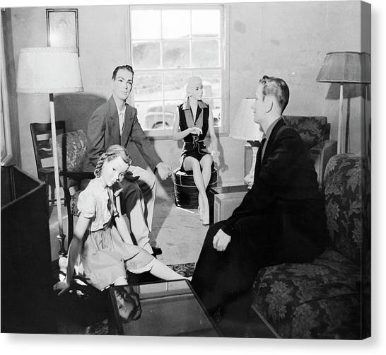 Dummies Canvas Print - Operation Doorstop Atom Bomb Test by Us National Archives