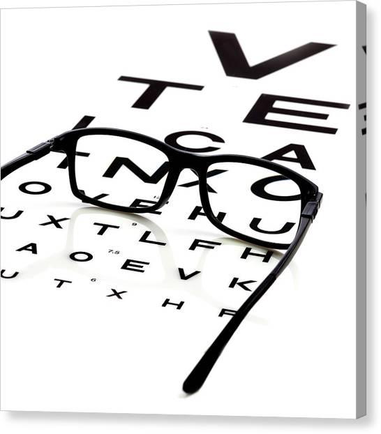 Eye Chart Canvas Prints Fine Art America