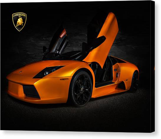 Flash Canvas Print - Orange Murcielago by Douglas Pittman