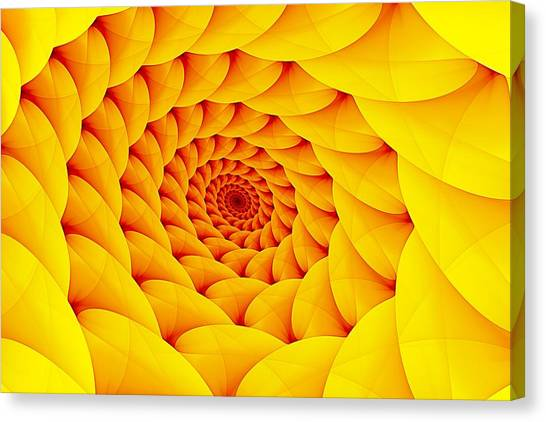 Yellow Pillow Vortex Canvas Print