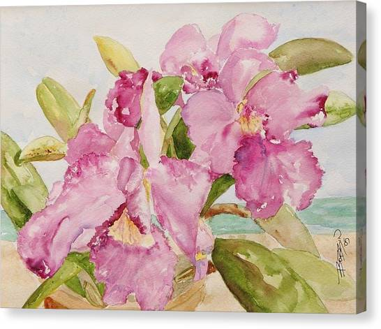Orchid On The Beach Canvas Print