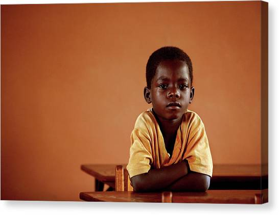 Classroom Canvas Print - Orphanage School by Mauro Fermariello/science Photo Library