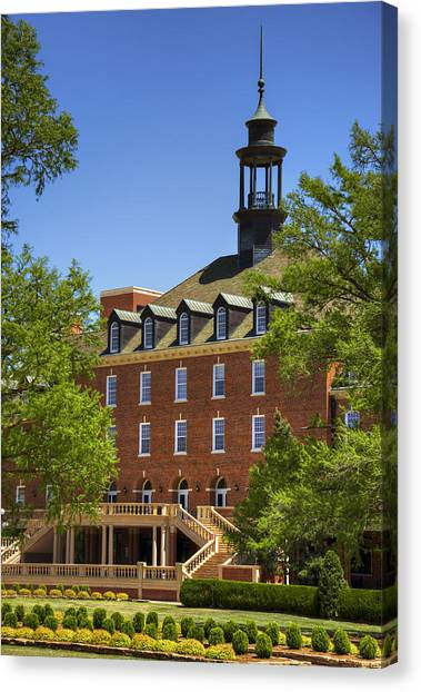 Oklahoma State University Canvas Print - Osu Student Union by Ricky Barnard