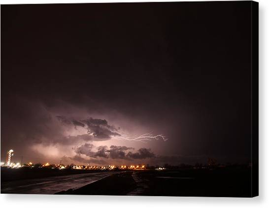 Our 1st Severe Thunderstorms In South Central Nebraska Canvas Print