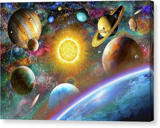 Uranus Canvas Print - Outer Space by Adrian Chesterman