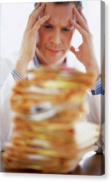 Overworked Doctor Canvas Print by Ian Hooton/science Photo Library