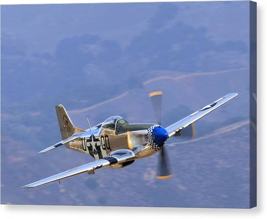 P51 Mustang Grim Reaper At Salinas Air Show Canvas Print