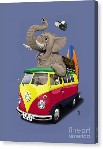 Pack The Trunk Colour Canvas Print