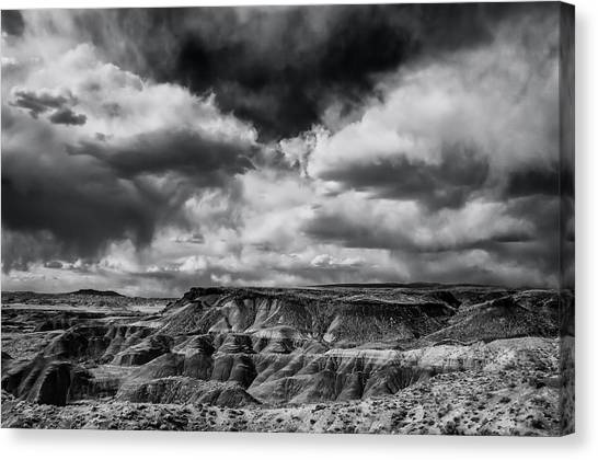 Petrified Forest Canvas Print - Painted Desert From Lacey Point by Jerry Ginsberg