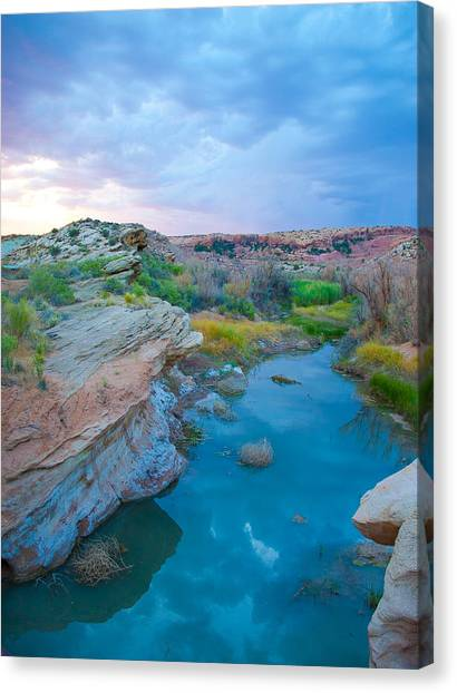 Painted River Gorge Canvas Print by Sarah Crites