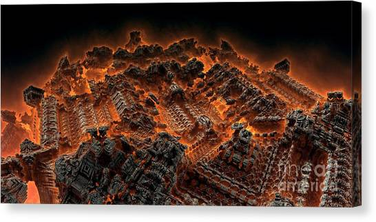 Pandemonium Canvas Print by Bernard MICHEL