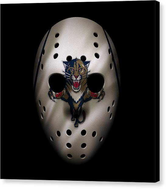 Florida Panthers Canvas Print - Panthers Jersey Mask by Joe Hamilton