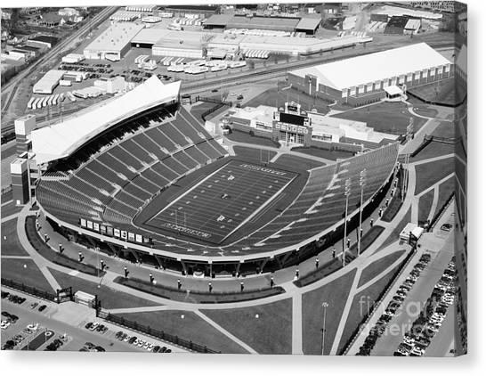 University Of Louisville Canvas Print - Papa John's Cardinal Stadium South Louisville Kentucky by Bill Cobb
