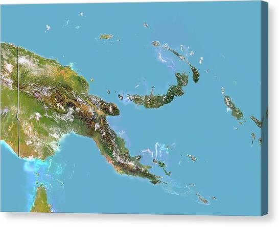 Papua New Guinea Canvas Print by Planetobserver/science Photo Library
