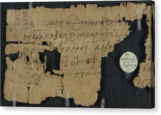 Coptic Art Canvas Print - Papyrus by British Library