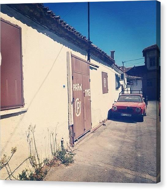 Street Scenes Canvas Print - Parking, Kusadasi, Turkey by Go Takey