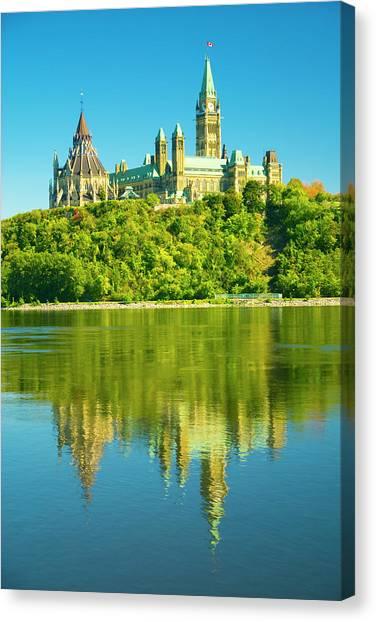 Parliament Hill Canvas Print - Parliament by Dennis Mccoleman