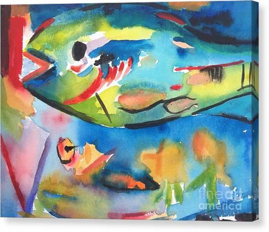 Parrot Fish Canvas Print
