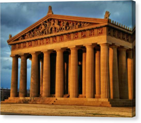 The Parthenon Canvas Print - Parthenon by Dan Sproul