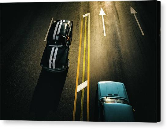 Passing Cars Canvas Print by Yancho Sabev