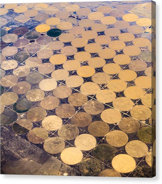 Patchworks. Aerial View To Texas's Fields Canvas Print